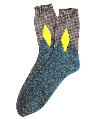 Diamond Clock Socks Pattern #7202