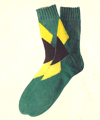 Diamond Overlay Socks Pattern #7204