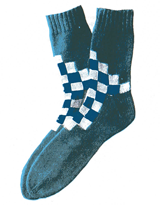 Checkerboard Socks Pattern #7207