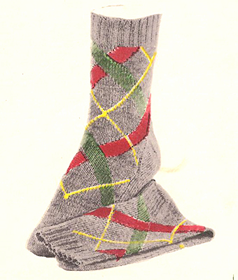Cross Stripe Socks Pattern #7208