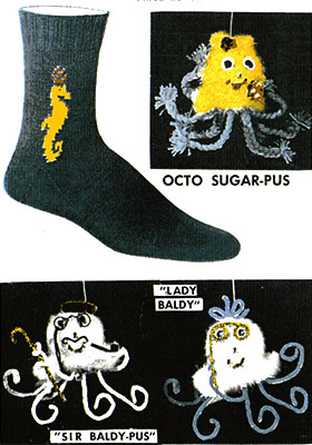 Sea Horse Clock Socks Pattern #72100