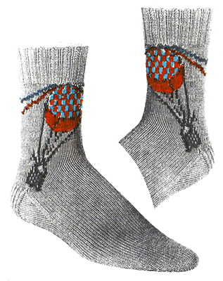 Around the World Socks Pattern #72-108