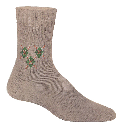 Argyle Chevron Clock Socks Pattern #72-109