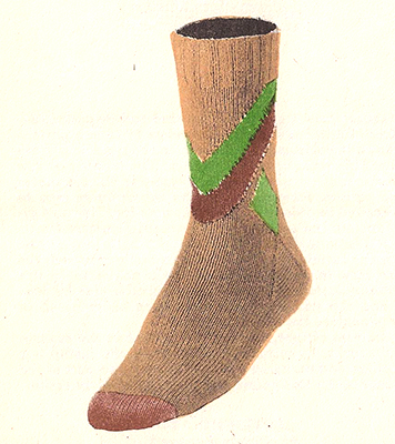 Chevrons & Diamond Socks Pattern #7211