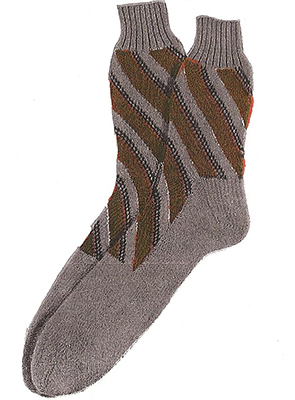 Diagonal Stripe Socks Pattern #7215