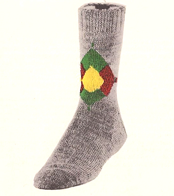 Diamond Cluster Socks Pattern #7221
