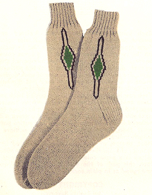 Clock Socks Pattern #7222
