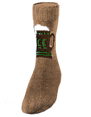 Beer Mug Socks Pattern #7223