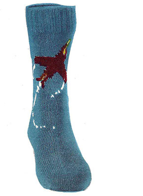 Jet Airplane Socks Pattern #7231