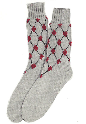 Diamond Lattice Socks Pattern #7234