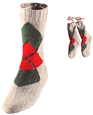Diamond Overlay Argyle Socks #7236