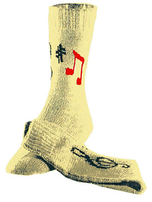 Music Socks Pattern #7237
