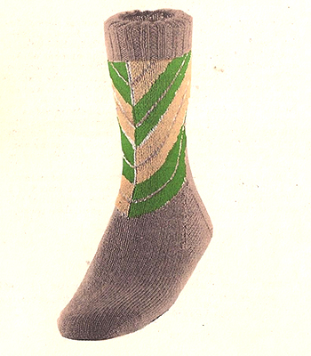 Chevron Diagonal Stripes Socks Pattern #7238