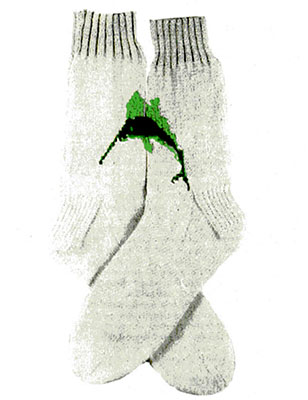 Sailfish Socks Pattern #7241