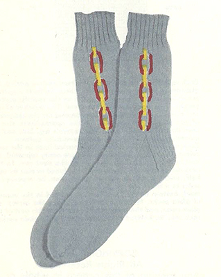 Chain Clock Socks Pattern #7242