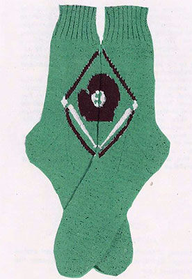 Baseball Diamond Socks Pattern #7245
