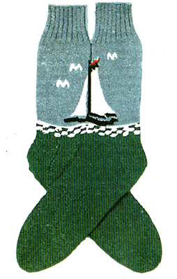 Sail Ho Socks Pattern #7246