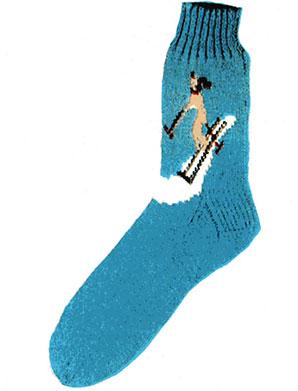 Skier Socks Pattern #7254