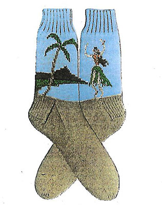 Hawaiian Girl Socks Pattern #7256 profile