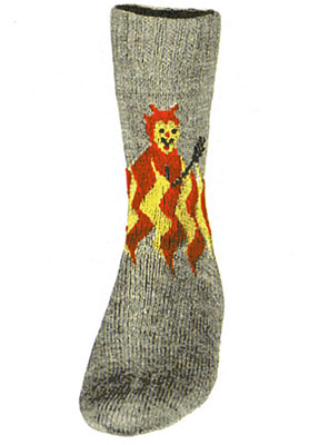 Red Devil Socks Pattern #7257