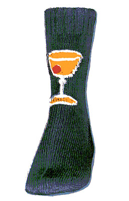 Manhattan Cocktail Socks Pattern #7258