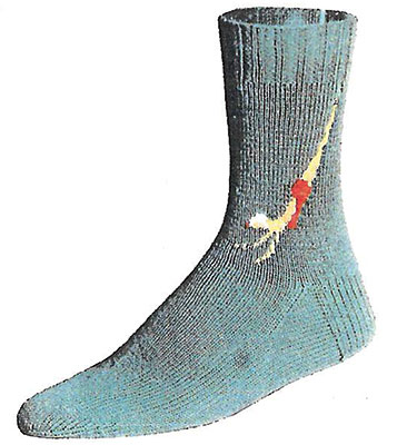 Diving Girl Socks Pattern #7260 profile