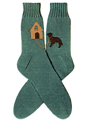 Dog House Socks Pattern #7265