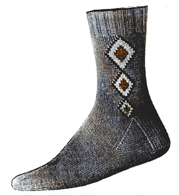 Diamond Chain Clock Socks Pattern #7266