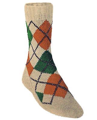 Small-Diamond Argyle Socks Pattern #7267