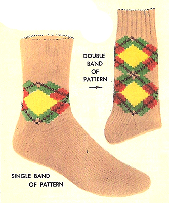 Band-O-Argyle Socks Pattern #7282