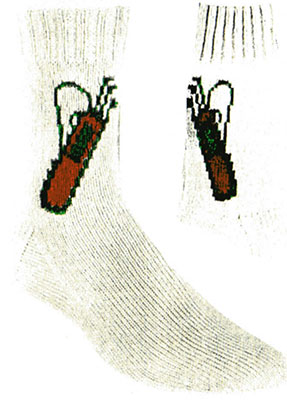 Golf Bag Socks Pattern #7284
