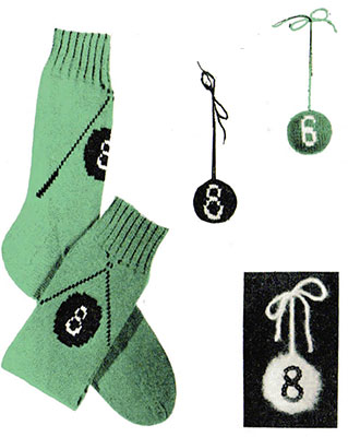 8-Ball Socks Pattern #7285
