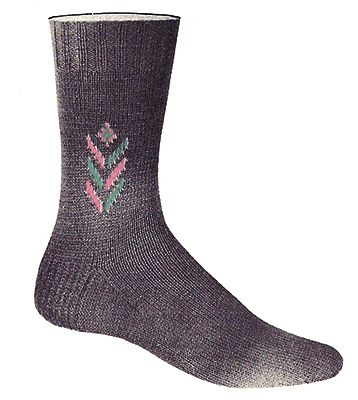 Chevron Clock Socks Pattern #7286