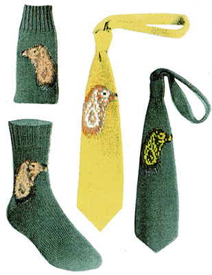 Cocker Spaniel Socks and Necktie Pattern #7290