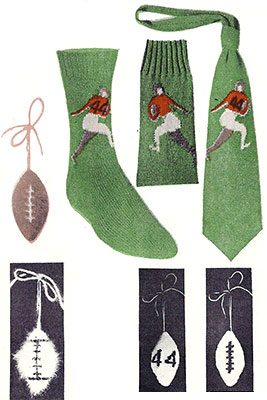 Football Player Socks and Necktie Pattern #7292