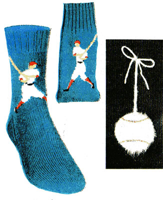 Baseball Player Socks Pattern #7295