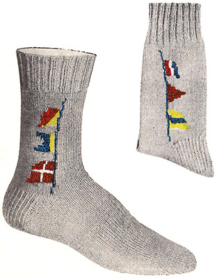 Signal Flags Socks Pattern #7298
