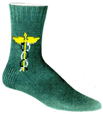 Winged Staff Clock Socks Pattern #7299