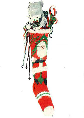 Full Figure Santa Claus Stocking Pattern #9005C