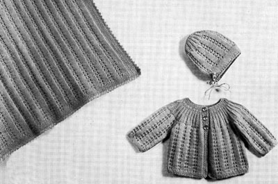Baby Set and Carriage Cover Pattern