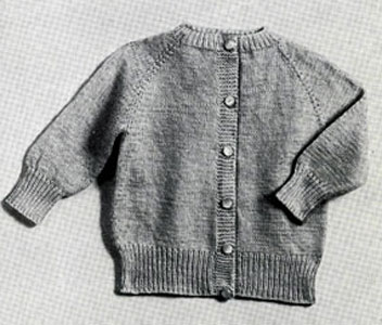 Raglan Cardigan Pattern Size: 8 months to 1 year (1-2 years) Knitting Pat...