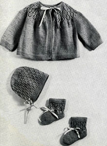 Baby Set with Lacey Yoke Pattern
