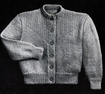 Seed Stitch Cardigan Pattern