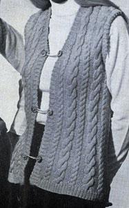 Cable Vest Pattern