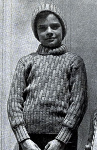 Boy's Skating Sweater and Hat Pattern