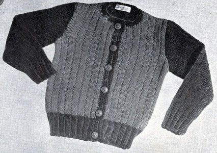 Two Tone Cardigan Pattern