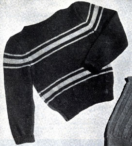 Boy's Shaker Sweater Pattern
