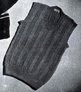 Boy's Sleeveless Sweater Pattern