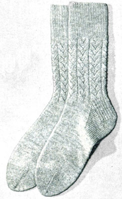 Herringbone Socks Pattern