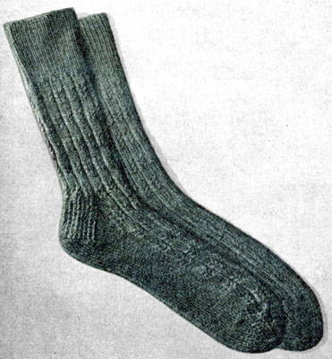 Fancy Ribbed Socks Pattern